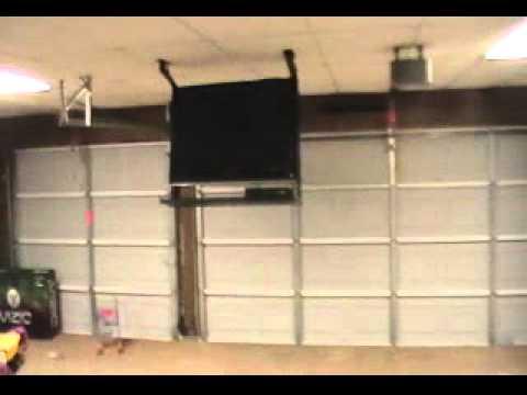 Drop Down Tv In Garage Youtube