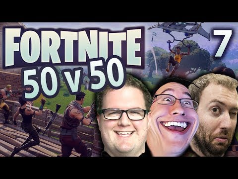 50v50 IS AWESOME! | Fortnite 50v50 w/Mark and Wade