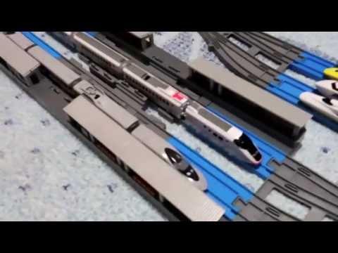 プラレールアドバンス レイアウトシリーズpart9複線ポイントレール