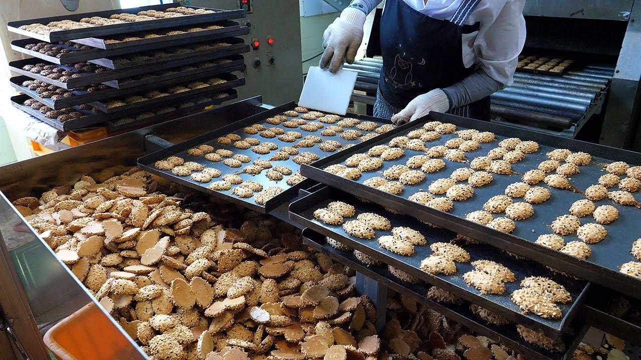 과자공장에서 만드는 추억의 땅콩과자 / confectionery factory making peanut snacks