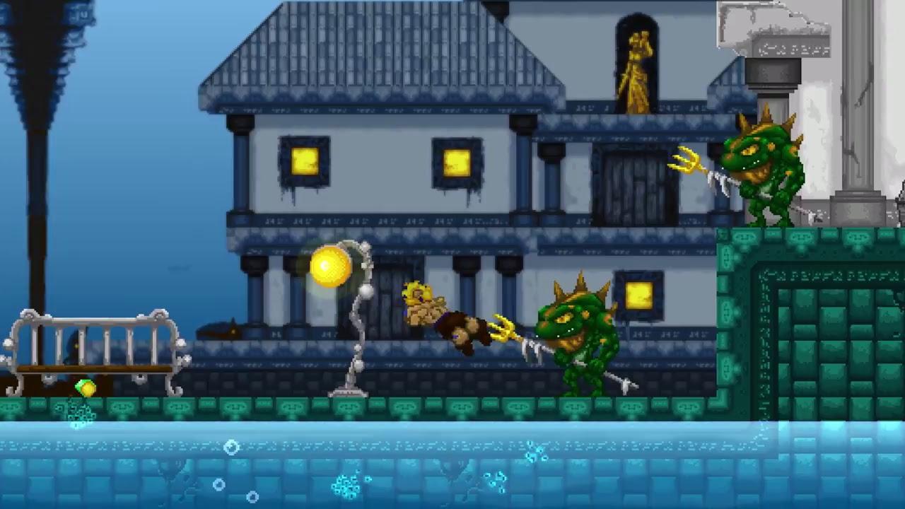 Volgarr The Viking Side Scrolling Pixel Adult Swim Game