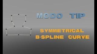 Modo-TIPP : erstellen Sie Schnell eine symmetrische B-Spline-Kurve.