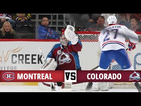 Montreal Canadiens vs Colorado Avalanche   Season Game 55   Highlights (7/2/17)