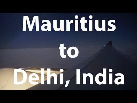 Mauritius (MRU) to Delhi, India (DEL) on Air Mauritius A330-200