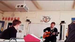 adam wilson hunter michael jackson cover (man in the mirror ) part 2 2013 live accoustic graveney