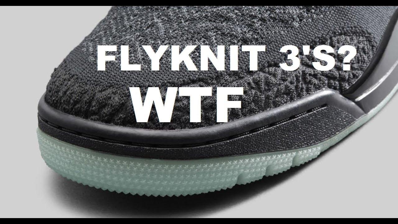 27a1b658fbe33 Air Jordan 3 Flyknit Retro Shoes Coming 2018 - YouTube