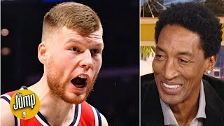 He's shooting the heck out of the ball and might be MIP - Scottie Pippen on Davis Bertans | The Jump