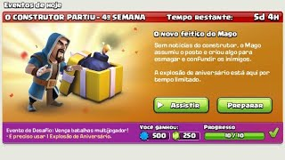 Clash Of Clans Evento Do Feitiço Do Mago