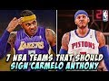 7 NBA Teams That Should Sign Carmelo Anthony