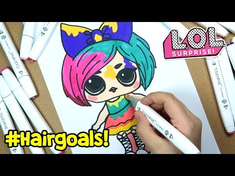 Lol Hairgoals Makeover Surpriz Bebegi Cizimi Ve Boyama Banggood
