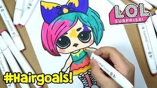 LOL #Hairgoals Makeover Sürpriz Bebeği Çizimi ve Boyama | Banggood Boyaları | Zep'in Oyuncakları