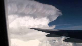 777 Turbulence Encounter & Deviating Around Large Storms