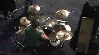 Trent Bickel's insane drum solo - above drums shot
