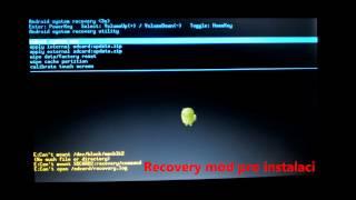 Instalace Androidu na tablet Adam pomocí USB flash disku