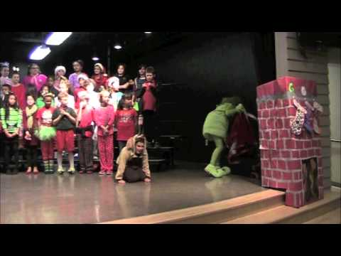 Ginger as The GRINCH in her 5th Grade Play