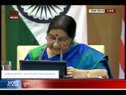 Joint press conference by EAM Sushma Swaraj & US Secretary of state Rex Tillerson