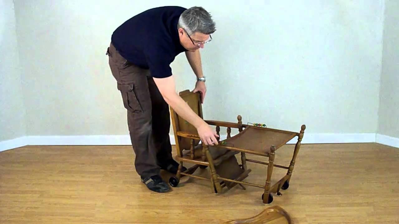 Cicra 1930's Chairtown Line High Chair - Cicra 1930's Chairtown Line High Chair - YouTube