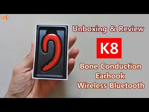 K8 Earhook Wireless Bluetooth Earphone Unboxing & Review Noise Cancelling Stereo Headphone with Mic