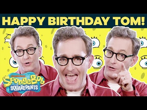 Tom Kenny (Voice of SpongeBob) Talks Fan-Favorite Lines IRL 🎂 Happy Birthday! | SpongeBob