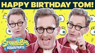 Tom Kenny (Voice of SpongeBob) Talks Fan-Favorite Lines IRL 🎂 Happy Birthday! | SpongeBob Video
