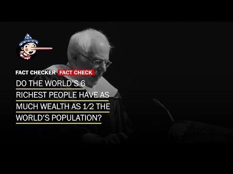 Do the world's 6 wealthiest countries have as much wealth as half the world's population?