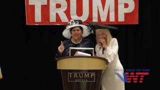 Michelle Marie Zere, Zere Real Estate Services, Speaks w/ Alice at the Tea for Trump Celebration