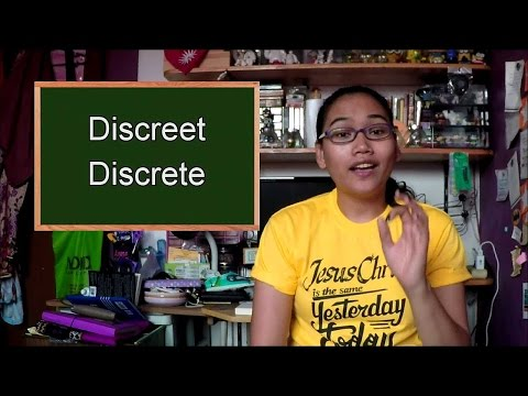 Homonym Horrors: Discreet and Discrete - Civil Service Exam Review