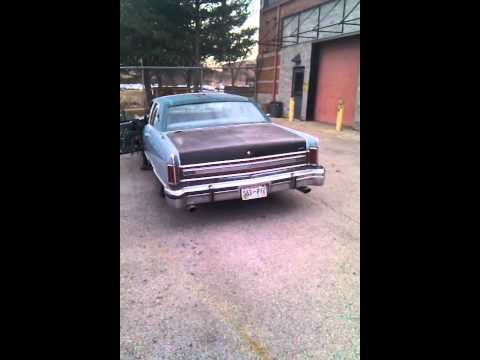 79 lincoln continental exhaust youtube. Black Bedroom Furniture Sets. Home Design Ideas