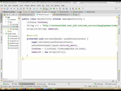 android tutorial in bangla------WebService part1