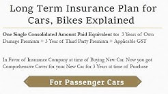 Long Term Insurance Cover Plan on Cars, Bikes by IRDAI. Nitty Gritty Explained