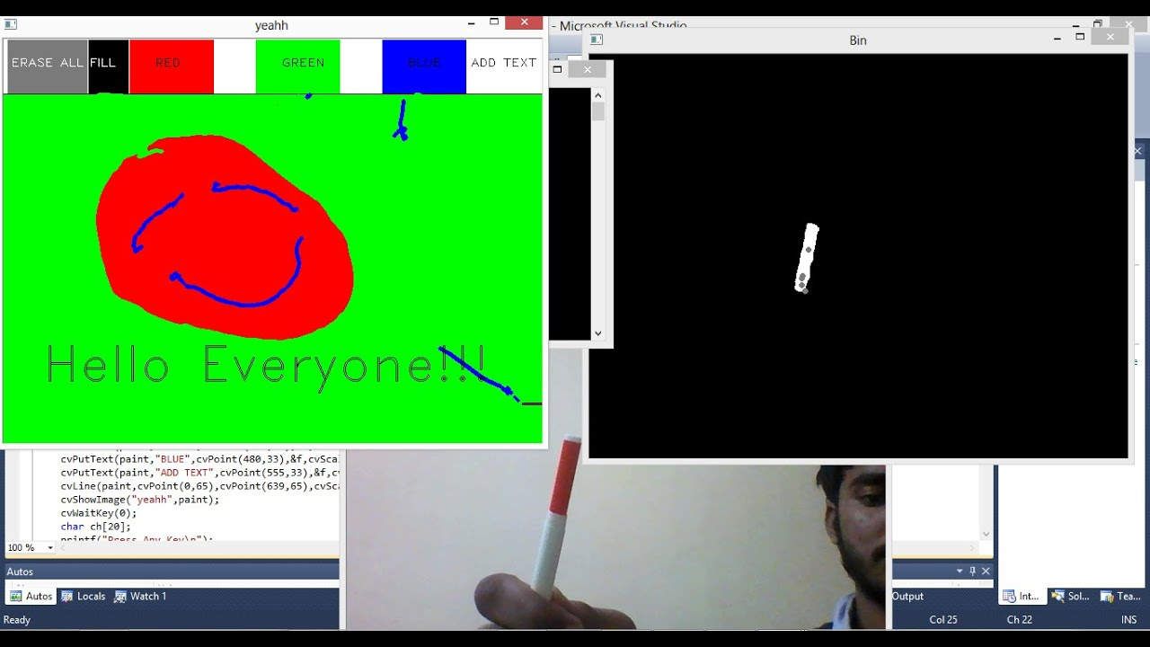 Marker Controlled Painting using OpenCV