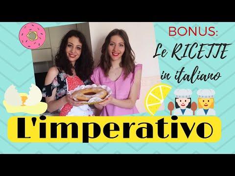 Imperativo italiano + vocabolario della cucina - Italian Imperative Mood - Impératif Italien
