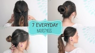 7 QUICK & EASY Everyday Hairstyles! Thumbnail