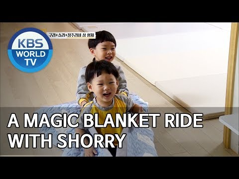 A magic blanket ride with Shorry [Trio's Childcare Challenge/ENG/2019.10.23]