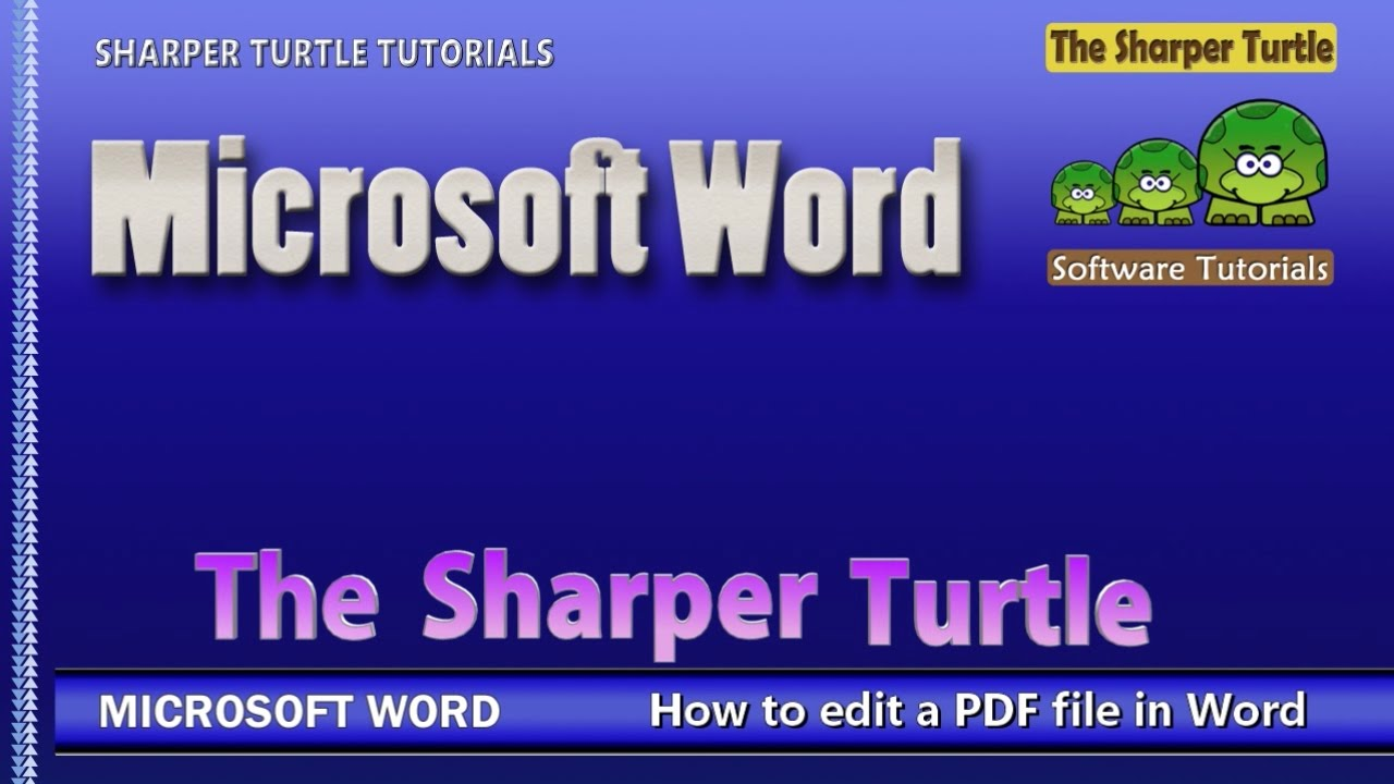 Microsoft Word  How To Edit A Pdf File In Word