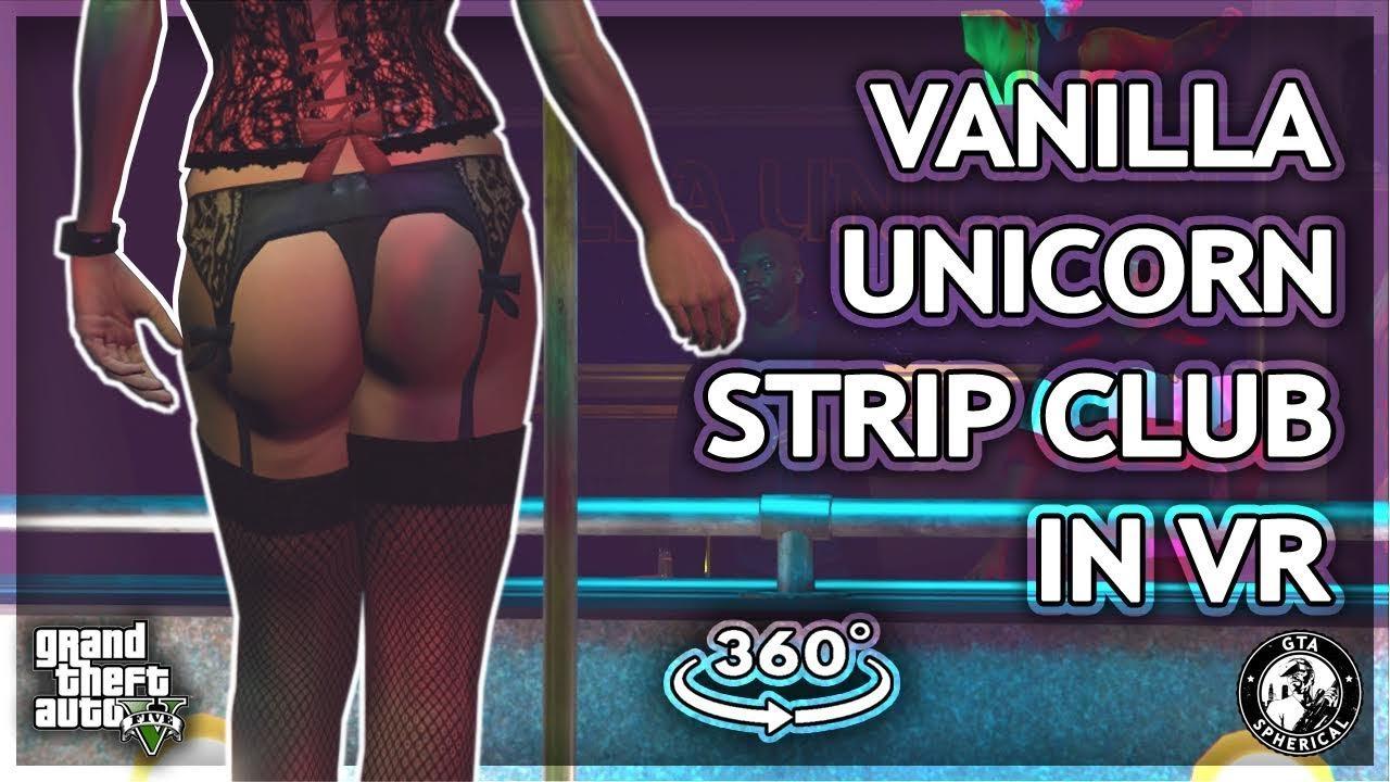 Visiting the Vanilla Unicorn Club in VR - GTA V 360° thumbnail