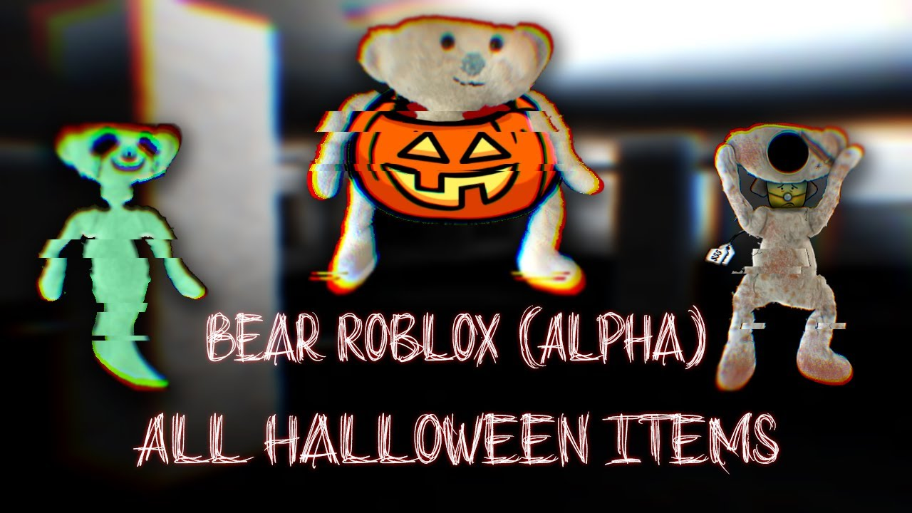 Roblox Bear Alpha Halloween Event All Items Youtube