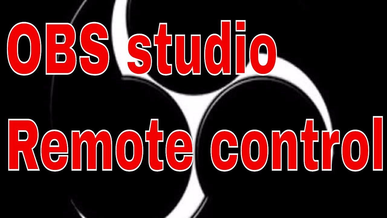 OBS studio remote control