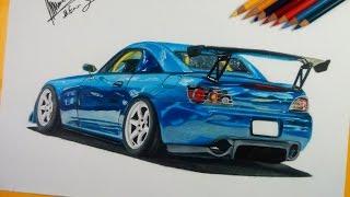 Honda S2000 Çizimi | Realistic Car Drawing