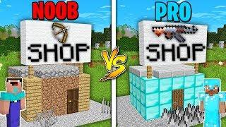 Minecraft Battle: NOOB vs PRO : SUPER GUN SHOP BUILDING Challenge in Minecraft