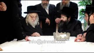 Rachmastrivka NY Rebbe Visits Bobov 45 Rebbe Adar 5772