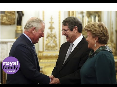 Prince Charles welcomes President of Cyprus to Buckingham Palace