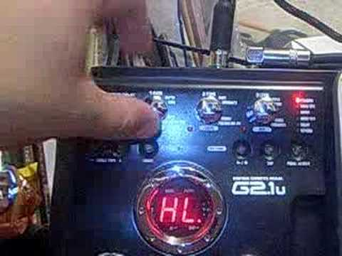 creating a patch for zoom g2 g2 1 guitar effects pedal youtube. Black Bedroom Furniture Sets. Home Design Ideas