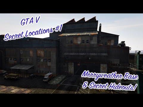 Merryweather Base + Secret Hideouts - GTA 5 Secret Locations #1