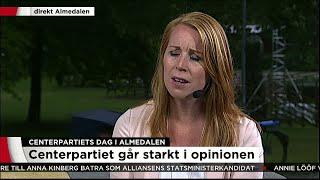 Centerpartiet dag i Almedalen - Vi har träffat Annie Lööf - Nyheterna (TV4)