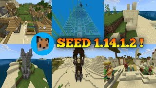 Seed Minecraft PE 1.14.1.2 new update / mcpe 1.14.1.2 seed Village and Pillage !