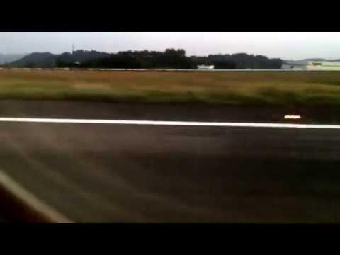 Okayama Airport Landing 2014.09.29 岡山空港 着陸  アナウンス JL1689