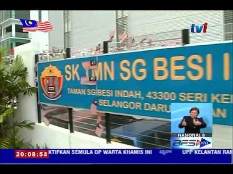 Pm Lawat Penempatan Sementara Sk Taman Sungai Besi Indah 24 Ogos 2015 Youtube