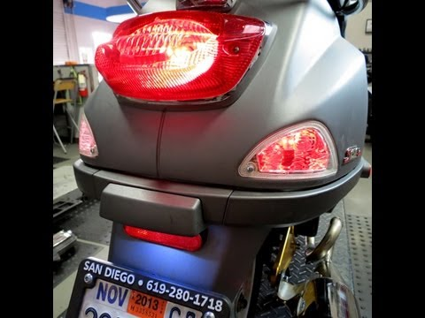 Universal Rear Running Light Kit for Vespa and More YouTube