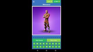 Guess the Picture Quiz for Fortnite level 65